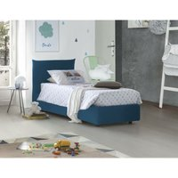 Single bed with removable container Pink Front Opening Container Made in Italy Blue - TALAMO ITALIA