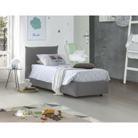 Single bed with removable container Pink Front Opening Container Made in Italy Grey - TALAMO ITALIA