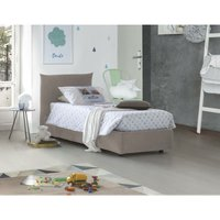 Single bed with removable container Pink Front Opening Container Made in Italy Turtledove - TALAMO ITALIA