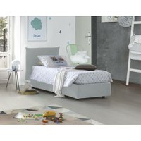 Single bed with removable container Pink Front Opening Container Made in Italy White - TALAMO ITALIA
