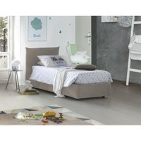 Single bed with removable container Pink Side Opening Container Made in Italy Turtledove - TALAMO ITALIA
