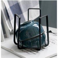 Single Wrought Iron Dish Drift, Drainer Kitchen Bowl, Storage Shelf, Dwelling Drainer, Dish Drip (Black)