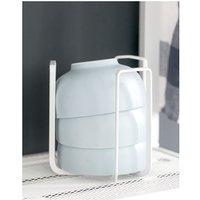 Single wrought-iron tableware, kitchen dryer kitchen bowl, storage shelf, domestic dish drainer, dish drainer (white)