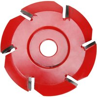 Six Tooth Woodworking Tea Tray Digging Wood Carving Disc Tool Milling Cutter, Red - ASUPERMALL
