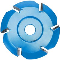 Six Tooth Woodworking Tea Tray Digging Wood Carving Disc Tool Milling Cutter, Blue - ASUPERMALL