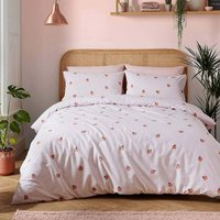 Double Duvet Cover Set, Peachy Pale Pink, Bed Quilt Set - Skinny Dip