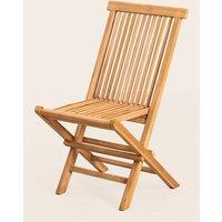 Lot de 2 chaises de jardin pliantes en bois de teck Pira Bois de Teck bois de teck - bois de teck - Sklum