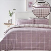 Bedmaker - Skye Mauve Super King Size Duvet Cover Set Bed Quilt