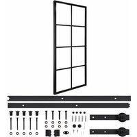 Youthup - Sliding Door Aluminium and ESG Glass with Hardware 76x205cm