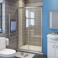 Sliding Shower Cubicle Enclosure Door Modern Bathroom Screen Glass 1200mm
