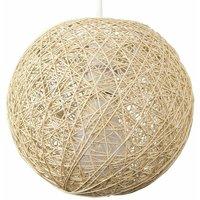 MiniSun - Cream Lattice Wicker Rattan Globe Ball Ceiling Pendant Light Lampshade - Small