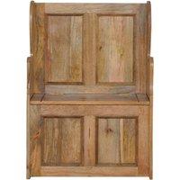 Small Wood Storage Hallway Monks Bench - ARTISAN FURNITURE