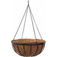 Smart Garden 30cm 12 Inch Metal Saxon Metal Hanging Basket Black Planter Liner