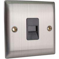 SMJ PPSKTELM-BS Master Telephone Outlet Brushed Steel