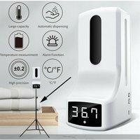 Soap Dispenser Non-Contact Digital Infrared Thermometer with 1000ml Automatic Sensor Soap Dispenser + 160cm Tripod Stand