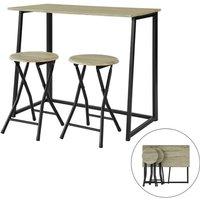Promotion! !SoBuy Bar Set-1 Folding Bar Table and 2 Folding Stools,OGT18-N