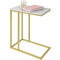Side Table End Table,Bed Sofa Side Table Laptop Table,FBT87-G - Sobuy