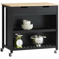 Kitchen Storage Trolley Kitchen Storage Shelf Kitchen Breakfast Dining Bar Table,FKW74-SCH - Sobuy