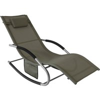 SoBuy Outdoor Garden Rocking Chair Relaxing Chair Sun Lounger with Side Bag, OGS28-BR