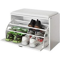 Shoe Storage Bench, Shoe Cabinet with Removable Cushioned Seat,FSR16-W - Sobuy