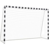 Youthup - Soccer Goal 300x200x90 cm Metal Black and White