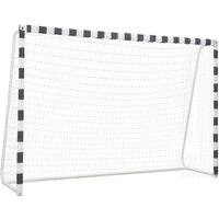 Soccer Goal 300x200x90 cm Metal Black and White - VIDAXL