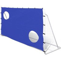 Youthup - Soccer Goal with Aiming Wall Steel 240 x 92 x 150