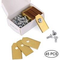 45 x Titanium Knife Blades for All Husqvarn / Automower / Yardforce / Gardena Robotic Mowers (3g-0.75mm) With 45 Screws, Replacement Blades for