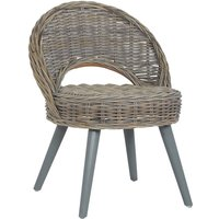 vidaXL Sofa Chair Kubu Rattan Grey - Grey