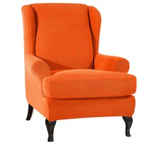 Sofa Covers Wing Chair Elastic Fabric Stretch Couch Slipcover Polyester Spandex Furniture Protector (Orange),model:Orange