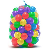 Soft Plastic Ball Pit Balls for Trampoline, Play Tent, Ball Pools, Indoor and Outdoor Play | Crush Proof, Non-Toxic, Phthalate and BPA Free | 100 Mixed