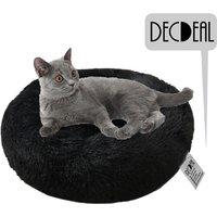 Soft Plush Round Pet Bed Cat Soft Bed Cat Bed, black- diameter 40cm - DECDEAL