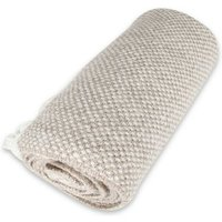 Softy 2 Throw - Blanket - for Sofa, Bed - Beige made of Acrylic, Polyester, 130 x 170 cm - HOMEMANIA