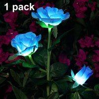 Solar Artificial Rose Flower Lights Decorative Solar LED Lights for Outdoor Waterproof IP44 for Garden Christmas Outdoor Decoration, Patio, Backyard,