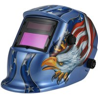 Solar Auto Darkening Welding Helmet Welders Mask Arc Tig Mig Grinding Eagle Blue - ASUPERMALL