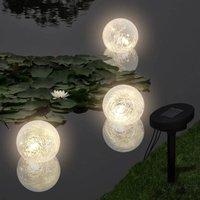 Solar Bowl 3 LED Floating Ball Light for Pond Swimming Pool - White