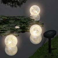 Vidaxl - Solar Bowl 3 LED Floating Ball Light for Pond Swimming Pool