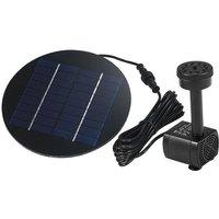 Decdeal - Solar brushless direct-current fountain, mini pump fountain, garden rockery waterscape, QR-0918 9V 1.8W,Black,Round