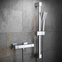 Cool Touch Bar Shower Mixer Kit - Square Exposed Valve and Riser - Solar