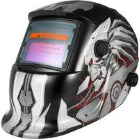 Asupermall - Solar Energy Auto Darkening Welding Helmet Welding Welder TIG MIG Grinding Mask Robot Style