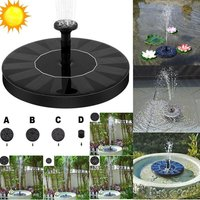 Solar floating fountain 1.4W 180L / h, Black