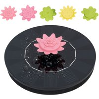 Solar floating petal fountain 7V/1.4W, equipped with 5 petal nozzles (the nozzles can be used as tops for playing)