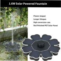 Decdeal - Solar floating water pump, rockery / pool / garden landscape fountain, petal qr-0820 8V 2W