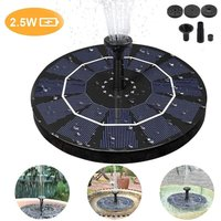 Bearsu - Solar Fountain, 2.5W Solar Fountain Pump with Built-in Battery Backup, Solar Fountain Pump for Birdbath, for Pool, Garden, Pond, Patio,