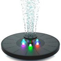 Solar fountain 3 W - Solar pond pump with LED light - For garden pond or fountain