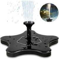 Solar Fountain, Electric Solar Water Pump Solar Panel Pump 1.4W Garden Outdoor Watering Floating Pump for Garden Patio Birds Pool and Water - LANGRAY
