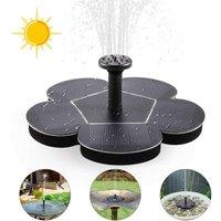 Briday - Solar Fountain Pump, Floating Solar Fountain with 4 Nozzles, Floating Fountain for Bird Baths, Ponds or Garden
