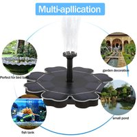 Solar Fountain Pump for Birdbath Floating Brushless Water Pump Black - DECDEAL