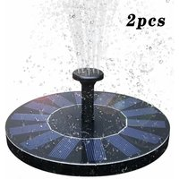 Solar Fountain Pumps, Garden Solar Fountain With 1.4W Monocrystalline Solar Panel For Garden Pond or Fountain - 2pcs