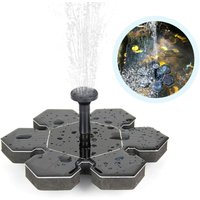 Zqyrlar - Solar Fountain, Solar Pond Pump Outdoor Water Pump Solar Pump with 1.4W Monocrystalline Solar Panel Fountain, Floating Decoration for